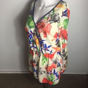 NWOT Geisha Floral Long Sleeve Romper Size Small